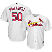 Majestic Men's Replica St. Louis Cardinals Adam Wainwright #50 Cool Base Home White Jersey