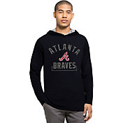 '47 Men's Atlanta Braves Navy Downfield Long Sleeve Shirt