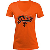 5th & Ocean Women's San Francisco Giants Orange V-Neck T-Shirt