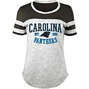 5th & Ocean Women's Carolina Panthers Space Dye Black T-Shirt