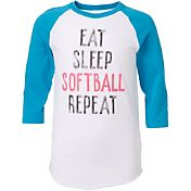 adidas Girls' Repeat ¾ Sleeve Softball Shirt