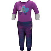 adidas Infant Girls' Bodysuit and Pants Set