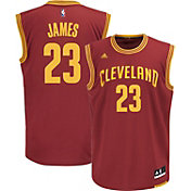 adidas Men's Cleveland Cavaliers LeBron James #23 Road Burgundy Replica Jersey