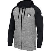 adidas Men's Brooklyn Nets climawarm Team Issue Grey/Black Full-Zip Hoodie