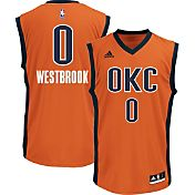 adidas Men's Oklahoma City Thunder Russell Westbrook #0 Alternate Orange Replica Jersey