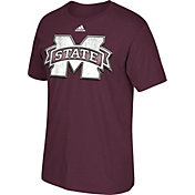 adidas Men's Mississippi State Bulldogs Maroon Chromed Logo T-Shirt