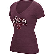 adidas Women's Texas A&M Aggies Maroon Scribble V-Neck T-Shirt