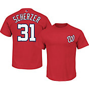 Majestic Youth Washington Nationals Max Scherzer #31 Red T-Shirt