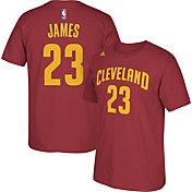 adidas Youth Cleveland Cavaliers LeBron James #23 Burgundy Performance T-Shirt