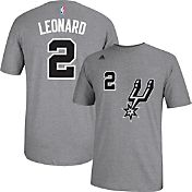 adidas Youth San Antonio Spurs Kawhi Leonard #2 Grey T-Shirt