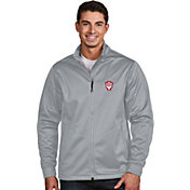 Antigua Men's Indiana Hoosiers Silver Performance Golf Jacket