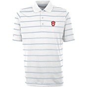 Antigua Men's Indiana Hoosiers Deluxe Performance White Polo
