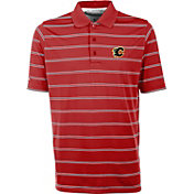 Antigua Men's Calgary Flames Deluxe Red Polo
