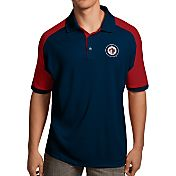 Antigua Men's Winnipeg Jets Navy/Red Century Polo