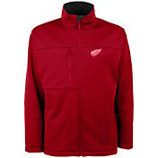 Antigua Men's Detroit Red Wings Red Traverse Fleece Jacket