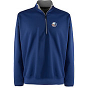 Antigua Men's New York Islanders Leader Royal Quarter-Zip Pullover Jacket