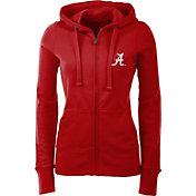 Antigua Women's Alabama Crimson Tide Crimson Full-Zip Hoodie