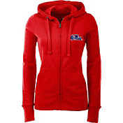 Antigua Women's Ole Miss Rebels Red Full-Zip Hoodie