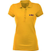 Antigua Women's LSU Tigers Gold Spark Polo