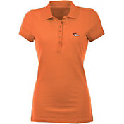 Antigua Women's Denver Broncos Orange Spark Polo