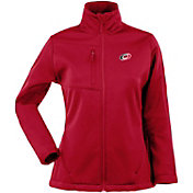 Antigua Women's Carolina Hurricanes Traverse Soft Shell Full-Zip Red Jacket
