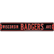 Authentic Street Signs Wisconsin Badgers Avenue Black Sign
