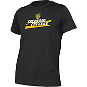 boxercraft Men's Colorado College Tigers Just for You Crew Wordmark and Logo Black T-Shirt