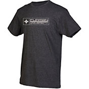 boxercraft Men's Furman Paladins Grey Just for You Crew Block Wordmark and Logo T-Shirt