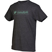 boxercraft Men's Tulane Green Wave Grey Just for You Crew Block Wordmark and Logo T-Shirt