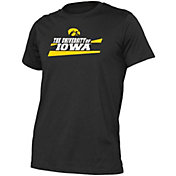 boxercraft Men's Iowa Hawkeyes Just for You Crew Wordmark and Logo Black T-Shirt