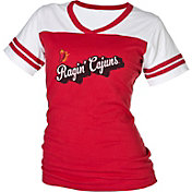 boxercraft Women's Louisiana-Lafayette Ragin' Cajuns Red/White Powder Puff T-Shirt