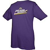 boxercraft Youth James Madison Dukes Purple Just for You Crew Wordmark and Logo T-Shirt