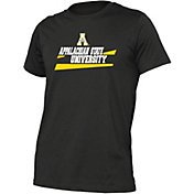 boxercraft Youth Appalachian State Mountaineers Just for You Crew Wordmark and Logo Black T-Shirt