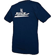 boxercraft Youth Rice Owls Blue Just for You Crew Wordmark and Logo T-Shirt