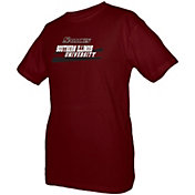 boxercraft Youth Southern Illinois Salukis Maroon Just for You Crew Wordmark and Logo T-Shirt