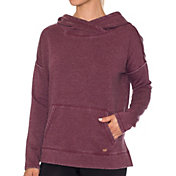 Betsey Johnson Performance Women's Spilt Hem Icey Fleece Hoodie