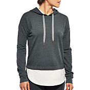 CALIA by Carrie Underwood Women's Plus Size Heather Droptail Hoodie