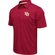 Colosseum Athletics Men's Denver Pioneers Crimson Heathered Performance Polo