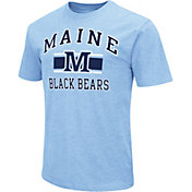 Colosseum Athletics Men's Maine Black Bears Blue Dual-Blend T-Shirt