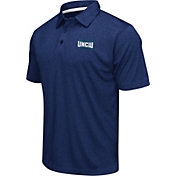 Colosseum Athletics Men's UNC Wilmington Seahawks Blue Heathered Performance Polo