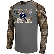 Colosseum Athletics Men's Notre Dame Fighting Irish Grey/Camo Break Action Long Sleeve Shirt