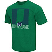 Colosseum Athletics Men's Notre Dame Fighting Irish Green State of the Union T-Shirt
