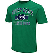 Colosseum Athletics Men's Notre Dame Fighting Irish Green Dual-Blend T-Shirt