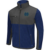 Colosseum Athletics Men's Notre Dame Fighting Irish Navy/Grey Mesa Polar Fleece Jacket
