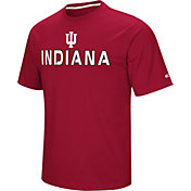 Colosseum Athletics Men's Indiana Hoosiers Crimson Pique Performance T-Shirt