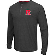 Colosseum Athletics Men's Rutgers Scarlet Knights Charcoal Long Sleeve Henley T-Shirt