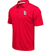 Colosseum Athletics Men's South Dakota Coyotes Red Heathered Performance Polo