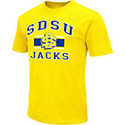 Colosseum Athletics Men's South Dakota State Jackrabbits Gold Dual Blend T-Shirt