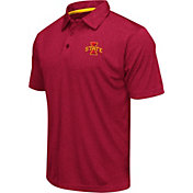 Colosseum Athletics Men's Iowa State Cyclones Cardinal Heathered Performance Polo
