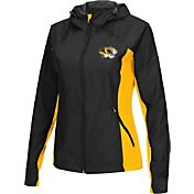 Colosseum Athletics Women's Missouri Tigers Black/Gold Step Out Windbreaker